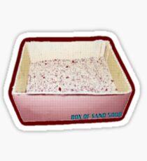 Box of Sand  Sticker