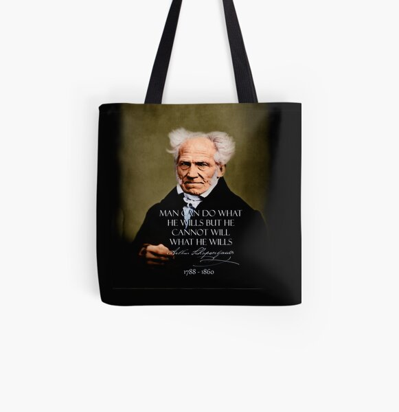 Schopenhauer~FREE.WILL~retouched~BEST.QUALITY~Colorized~Sepia All Over Print Tote Bag