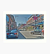 Yaletown Street (HDRI) Art Print