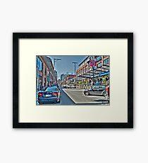 Yaletown Street (HDRI) Framed Print