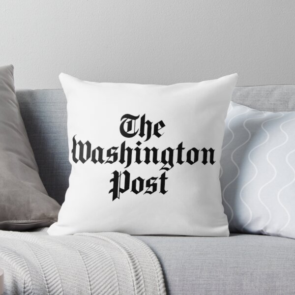 The Washington Post (black) Throw Pillow