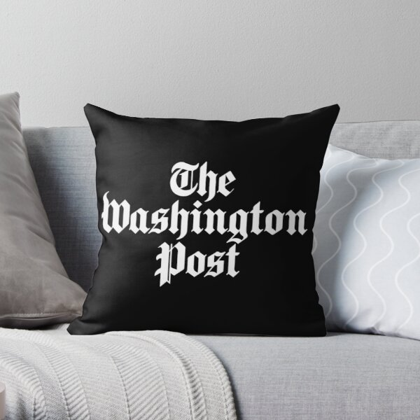 The Washington Post (white) Throw Pillow