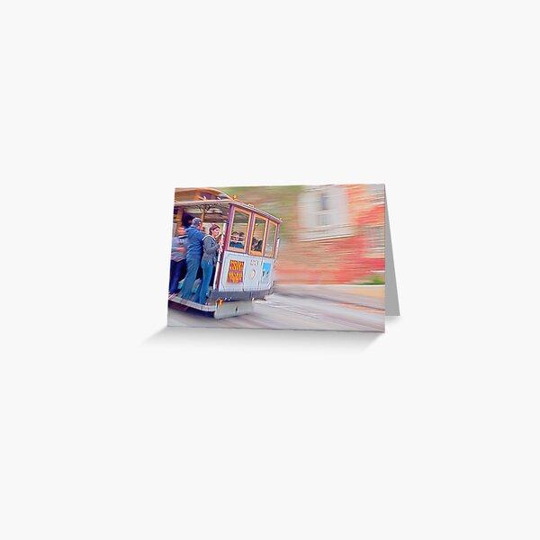 Cable Car, San Francisco Greeting Card