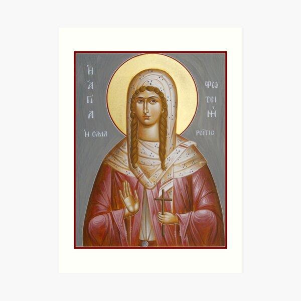 St Photini - The Samaritan Woman Art Print