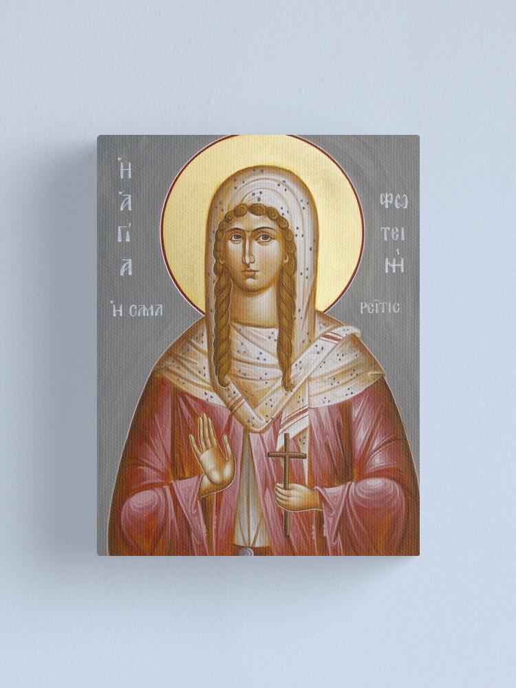 Alternate view of St Photini - The Samaritan Woman Canvas Print
