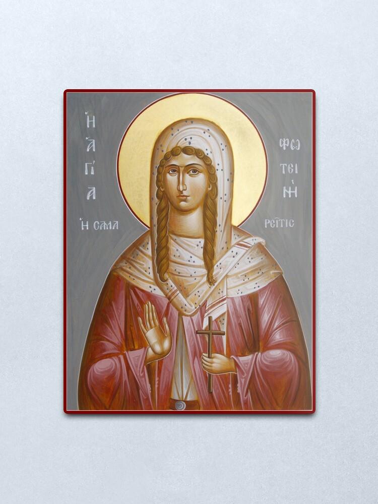 Alternate view of St Photini - The Samaritan Woman Metal Print