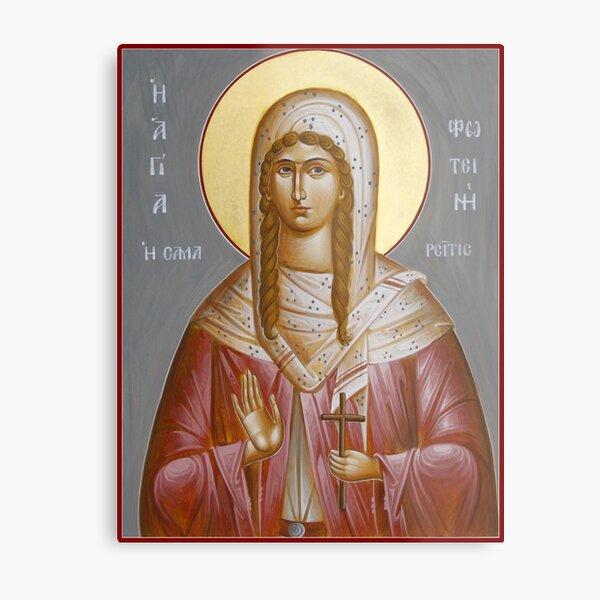 St Photini - The Samaritan Woman Metal Print