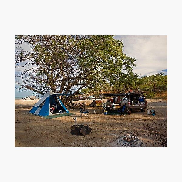 Campsite at Bathurst Head, Qld Photographic Print