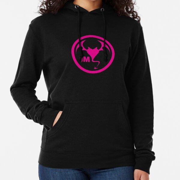 Hollywood Monsters Circle Bat Logo - PINK Lightweight Hoodie