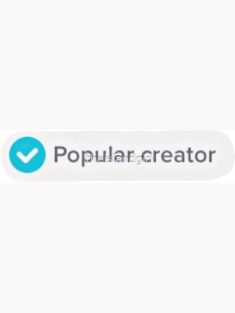 tiktok popular creator tag Greeting Card by theislandgirl Redbubble
