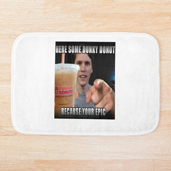 HERE SOME DUNKY DONUT - ***JERMA FUNNY*** Bath Mat