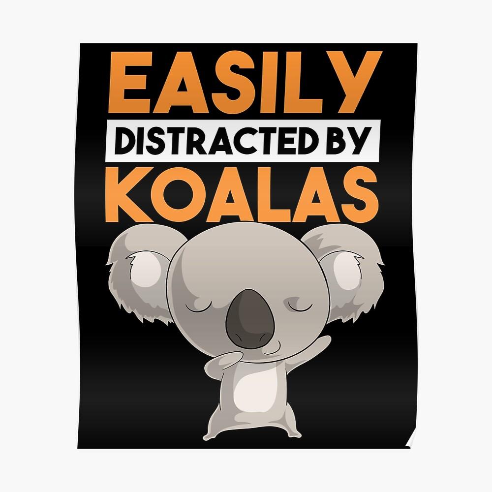 Easily Distracted by Koala and Dog Women Sweatshirt tee