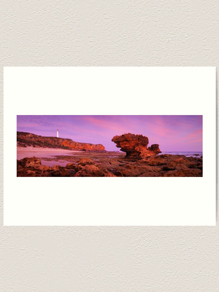 Alternate view of Split Point Lighthouse, Aireys Inlet, Victoria, Australia Art Print