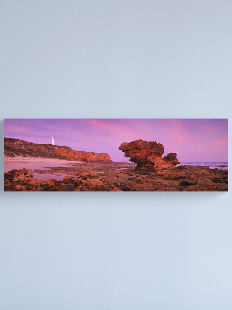 Alternate view of Split Point Lighthouse, Aireys Inlet, Victoria, Australia Canvas Print