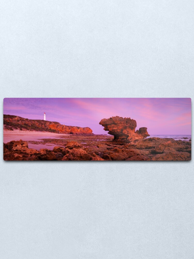Alternate view of Split Point Lighthouse, Aireys Inlet, Victoria, Australia Metal Print