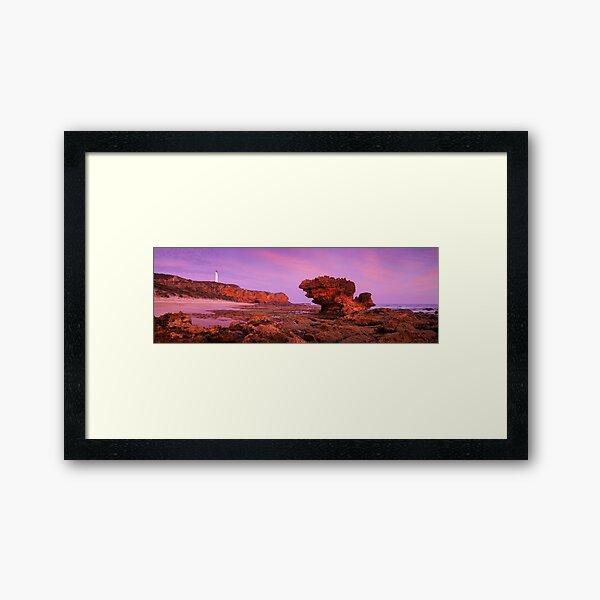 Split Point Lighthouse, Aireys Inlet, Victoria, Australia Framed Art Print