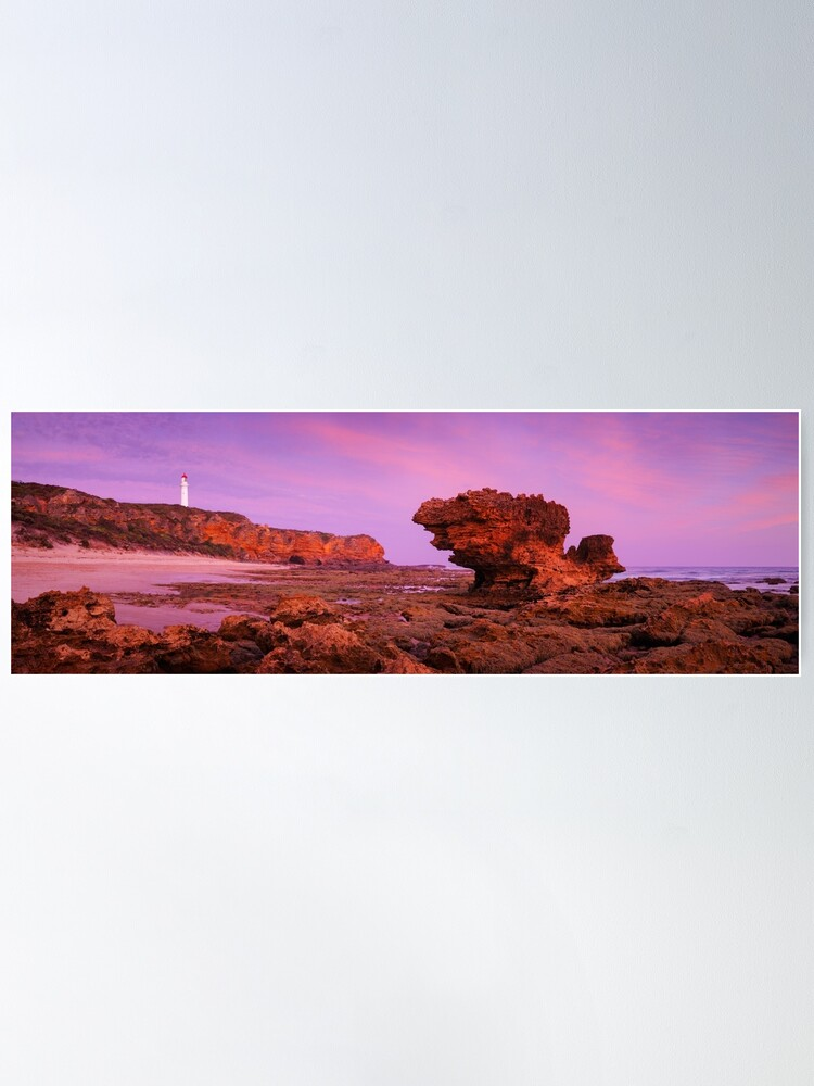 Alternate view of Split Point Lighthouse, Aireys Inlet, Victoria, Australia Poster