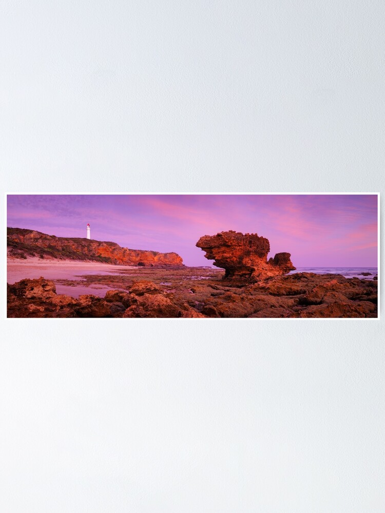 Alternate view of Split Point Lighthouse, Aireys Inlet, Victoria, Australia Poster