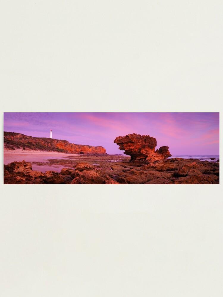 Alternate view of Split Point Lighthouse, Aireys Inlet, Victoria, Australia Photographic Print