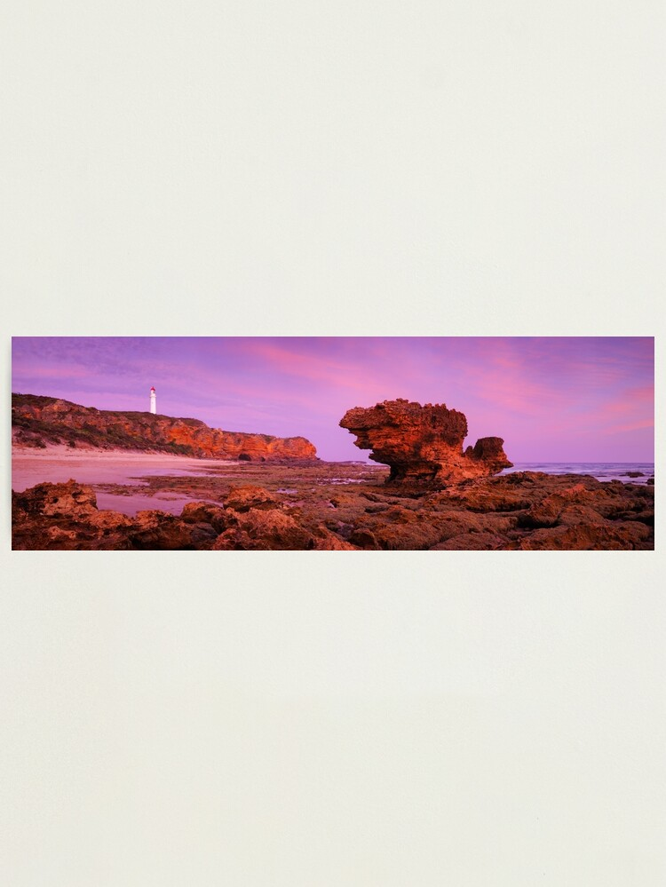 Alternate view of Split Point Lighthouse, Aireys Inlet, Victoria, Australia Photographic Print