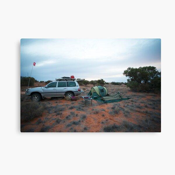 Campsite Hay River Track, Simpson Desert, NT Canvas Print