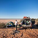 Campsite, Lake Mackay, WA by Richard  Windeyer
