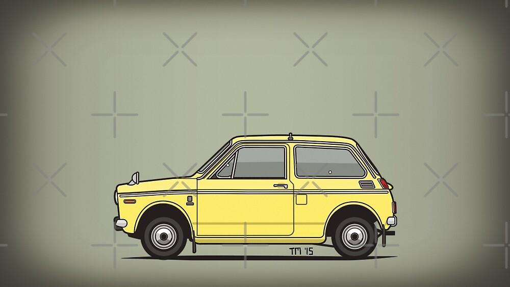 Honda N360 Yellow Kei Car by Tom Mayer