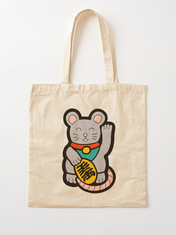 Alternate view of Lucky Chinese Year of the Rat Pattern Tote Bag