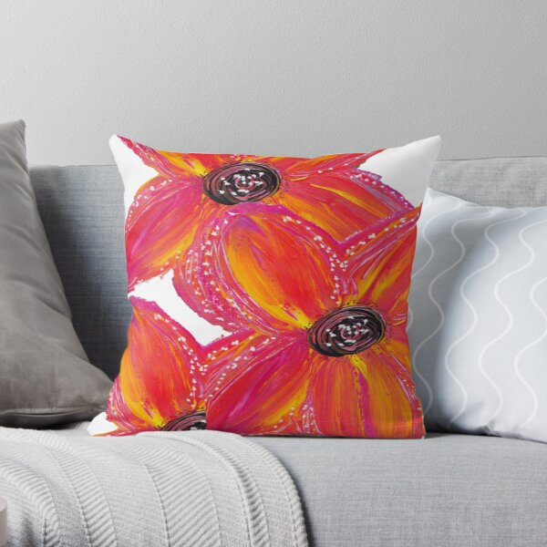 ORANGE CLUSTER Throw Pillow