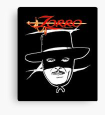Zorro fan art Canvas Print