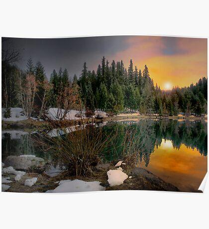 Just A Touch Of Light ~Trail Bridge Reservoir ~ Poster