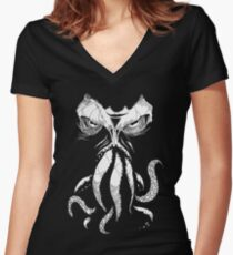 Cthulhu wakes Women's Fitted V-Neck T-Shirt