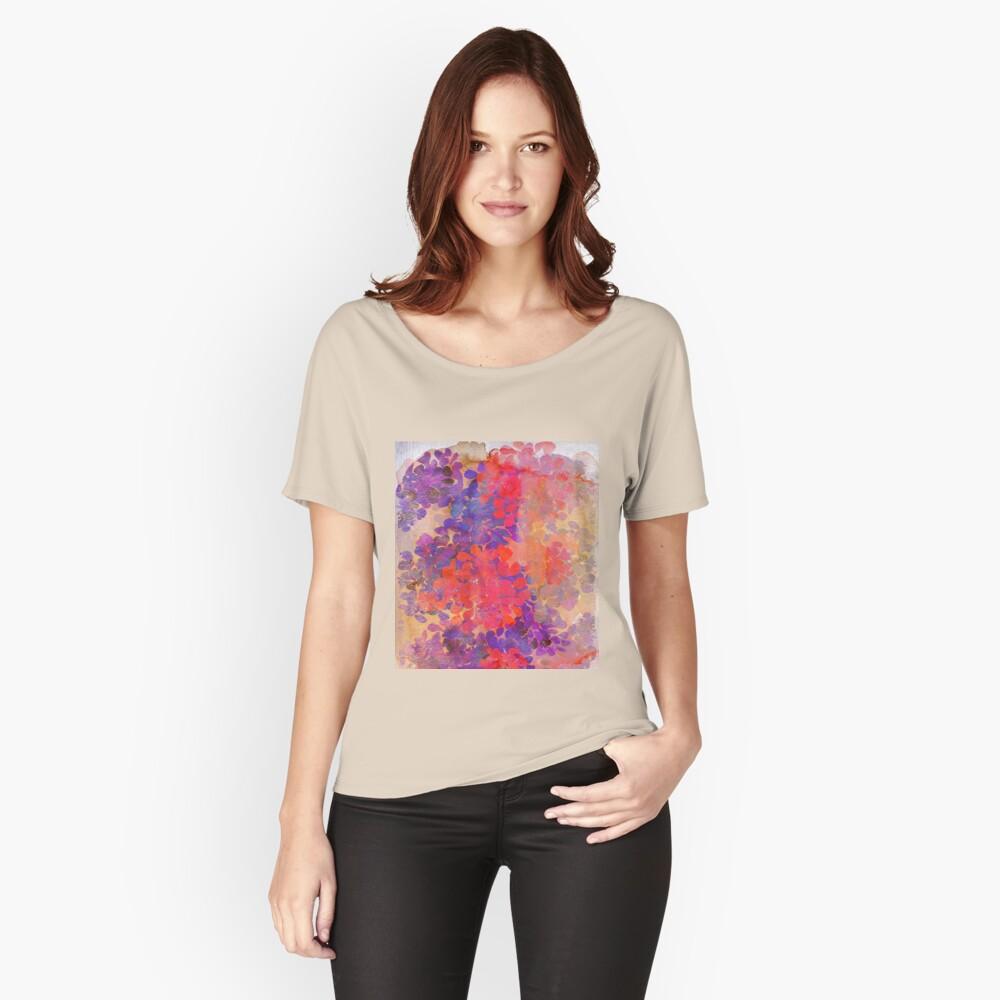 florale Komposition Loose Fit T-Shirt