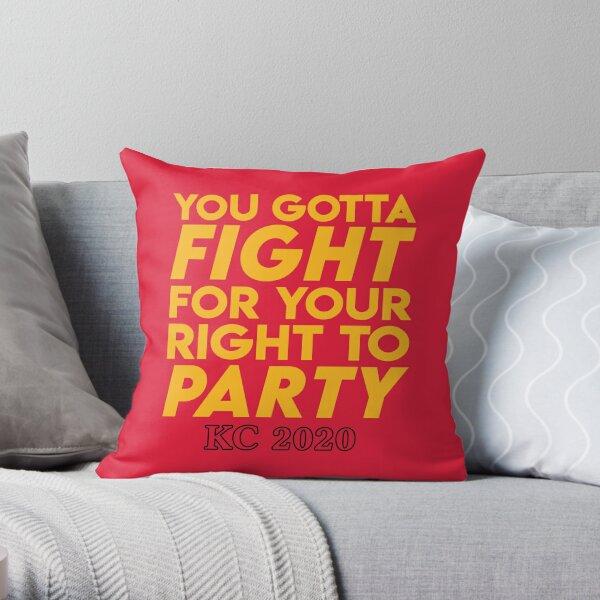 KC Kansas City 2020 KC Fan Arrowhead Red Kingdom T-Shirt Throw Pillow