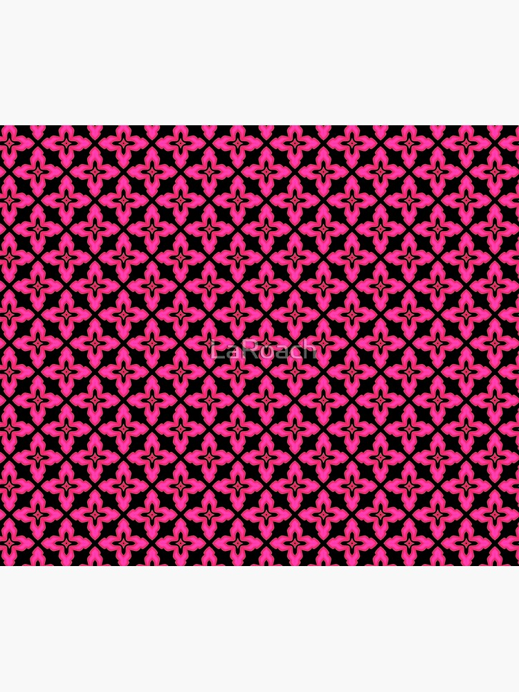 Fuchsia and Black Abstract Pattern by LaRoach