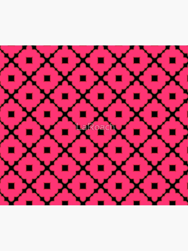 Pink and Black Abstract Pattern by LaRoach