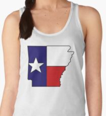 Arkansas outline Texas flag Women's Tank Top