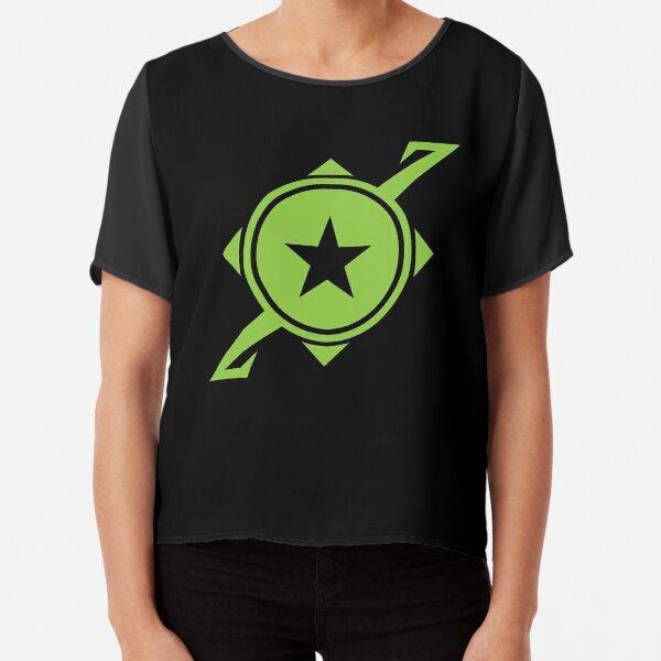 Galaxina Planet Logo - Lime Green Chiffon Top