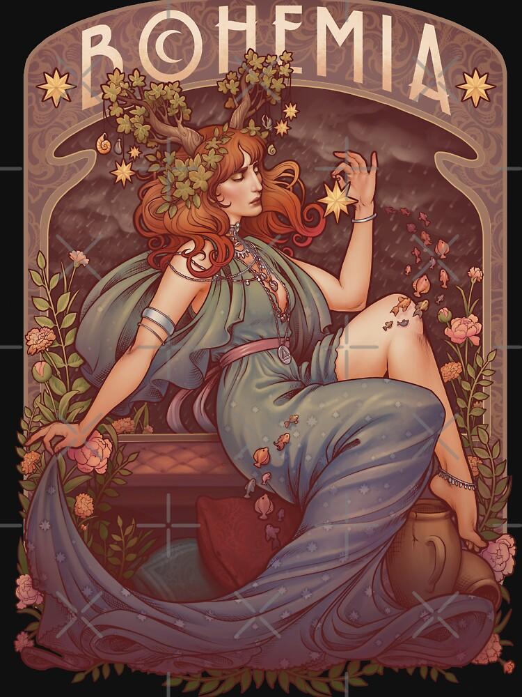 Art Nouveau BOHEMIA by medusadollmaker