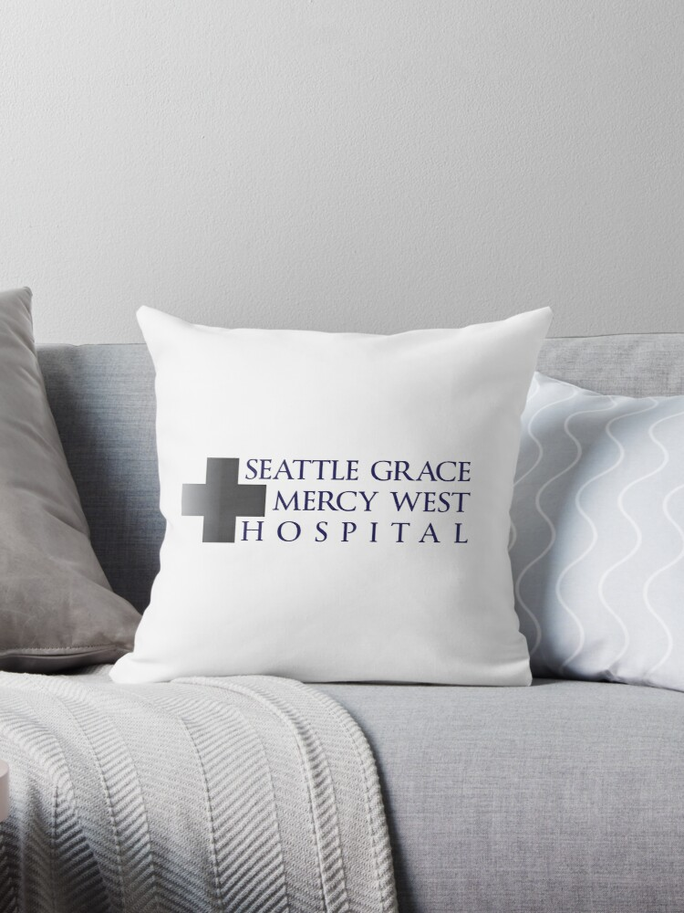 Seattle Grace Mercy West Hospital Throw Pillow By Iatwalrus Redbubble