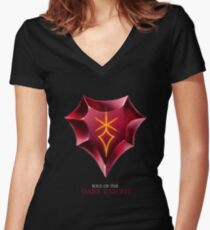 Soul of the Dark Knight -black Women's Fitted V-Neck T-Shirt