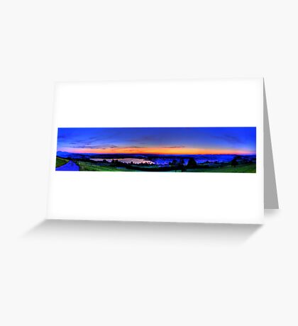 Twilight from Mt Zug - HDR Panorama Greeting Card