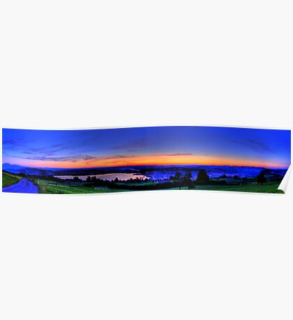 Twilight from Mt Zug - HDR Panorama Poster