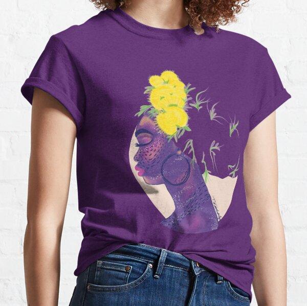 Dandelions in my Hair, Natural Hair, Headwrap, Turban Classic T-Shirt