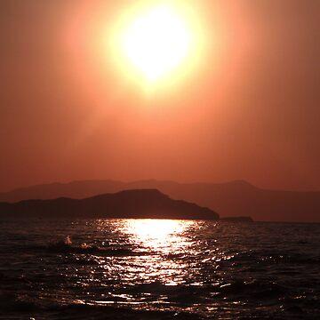 Greek Sunset - Crete by adamredshaw