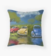 Bugs on  a Hill Throw Pillow