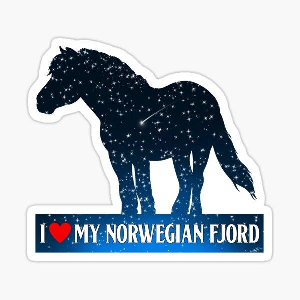 BUILT FJORD TOUGH Horse Breed Rider Norwegian Vinyl Decal Sticker A