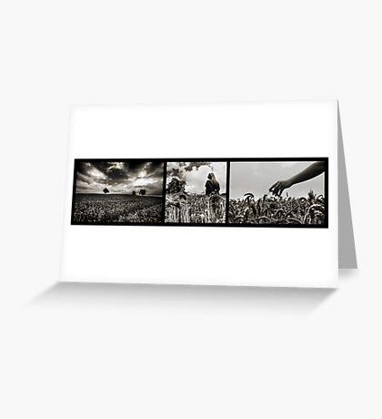 Weizen Triptychon Greeting Card