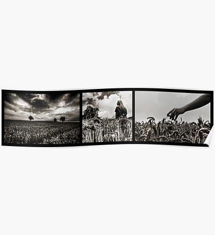 Weizen Triptychon Poster
