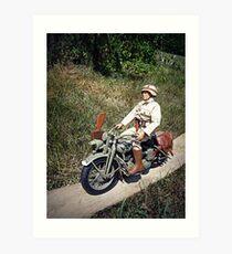 ~Motorcycle Joe~ Art Print
